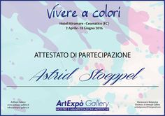 "Exhibition ""Vivere a colori"" Artexpo Gallery - Italy - Cesenatico April-June 2016"