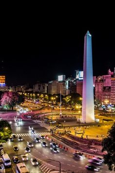 Downtown argentina at night