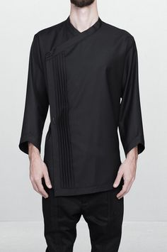 Idea glimpse for fitted chinese-bib shirt