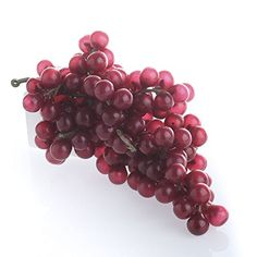 Set of 4 Artificial Red Grape Bunches for Vineyard, Tuscany and Wine Displays >>> Continue to the product at the image link.