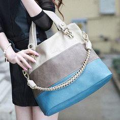 women's handbag one shoulder color block bags the trend of casual women's handbag nvbao