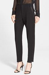 Alexander Wang Fitted Wool Ankle Pants