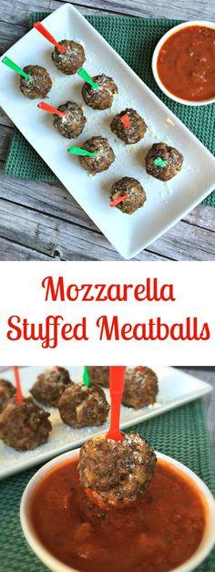 mozzarella stuffed meatballs Healthy Appetizers, Appetizers For Party, Appetizer Recipes, Meatball Appetizers, Meatball Recipes, Turkey Recipes, Appetizer Buffet, Mozzarella Stuffed Meatballs, Delicious Recipes