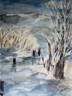 'Winter at the lake - Winter am See ' von Chris Berger bei artflakes.com als Poster oder Kunstdruck $18.29