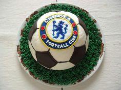 Chelsea cake for a true Blues fan!