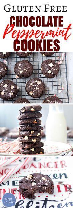 Gluten Free Chocolate Peppermint Cookies recipe via hungryhobby.net via @hungryhobby