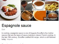 Espagnole is a basic brown sauce that is one of the five mother sauces ...