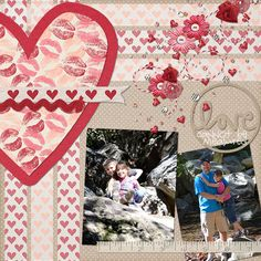 Layout by MelissaKay using Listen to Your Heart Digital Scrapbooking Kit by Simple Girl Scraps