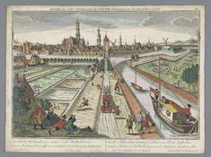 Gezicht op de Amsterdamse Vaart te Haarlem, Georg Balthasar Probst, 1742 - 1801 Amsterdam Canals, Amsterdam Holland, Illuminati, Netherlands, Paris Skyline, Dutch, Steampunk, Sketches, Tours