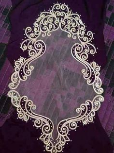 Embroidery Neck Designs, Machine Embroidery Patterns, Embroidery Dress, Beaded Embroidery, Henna Patterns, Lace Patterns, Beading Patterns, Velvet Evening Gown, Embroidered Clothes