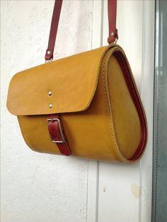Handmade leather Mini messenger bag by wolfram lohr