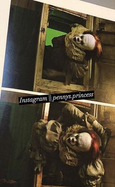 IT comes out of the fridge before and after the CGI photo credit to instagram pennys.princess