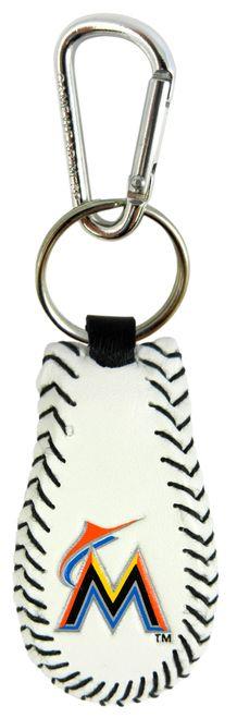 Miami Marlins Baseball Keychain