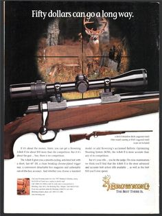 1997 BROWNING A-Bolt II Medallion Rifle PRINT AD : Other Collectibles at GunBroker.com