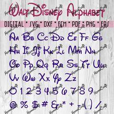 WALT DISNEY FONT alphabet cutting file svg by MamaDigitalCraft
