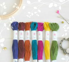Your place to buy and sell all things handmade Metallic Thread, Silk Thread, Cotton Thread, Friendship Bracelets Designs, Bracelet Designs, Laurel Canyon, Embroidery Thread, Color Combos, Lilac