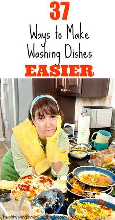 37 Ways to make washing dishes easier.