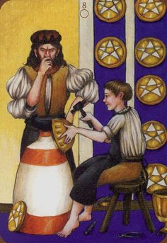 Eight of Coins - Anna.K Tarot by Anna Klaffinger