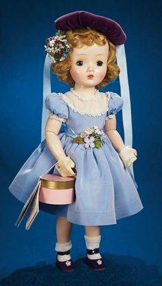 Fabulous 50s and Beyond - Modern Dolls: 306 Sweet Violet in Blue Taffeta Dress and Violet Velvet Cap