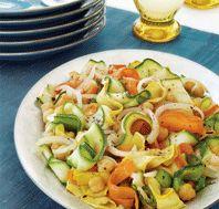 """Zucchini """"Pasta"""" with Chickpeas #glutenfree"""