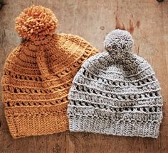 Make this beautiful ribbed hat with Wool-Ease, with or without the pompom!