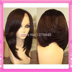 Cheap wig style, Buy Quality wig large directly from China hair fall wig Suppliers: Fashion Unprocessed Virgin Brazilian Short Human Hair Bob Wigs Natural Black Lace Front Bob Wig With Bang Weave Hairstyles, Pretty Hairstyles, Black Hairstyles, Hair Rainbow, Natural Hair Styles, Short Hair Styles, Bob Styles, Hair Laid, Love Hair