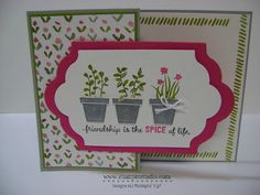 Stampin' Studio, Stampin' Up! Gifts From the Garden, Z-Fold Card