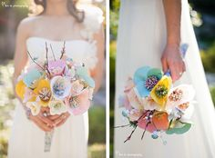 Amazing Paper Flower Bouquet from Wimsyful Pretties on Etsy