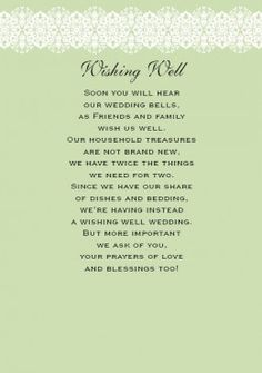 Wedding Gift Poems Charity : ... charity of our choice instead of giving us gifts for our home or