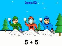 Snowball Fight: Math Game