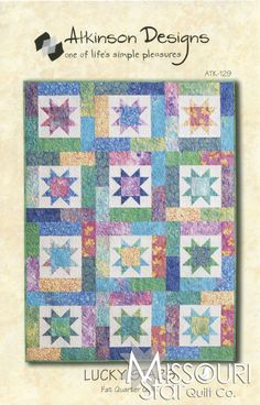 Lucky Stars Fat Quarter Quilt Pattern from Missouri Star Quilt Co