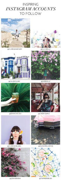 10 inspiring instagram accounts to follow | glitterguide.com
