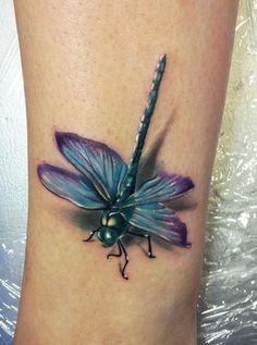 dragonfly tattoo 3D
