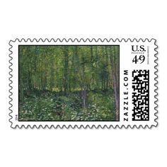 Trees and Undergrowth by Vincent Van Gogh Postage Stamps