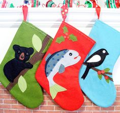 Woodland Wonderful Christmas Stockings
