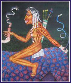 First Shaman - oh, he's a quirky gent all right, but on his shamanic journeys he's a straight arrow, don't you think?