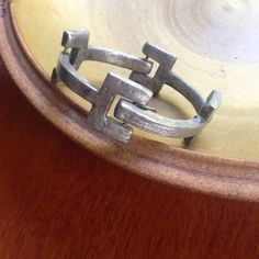 Vintage Danish Anders Andersen bracelet - brutalist pewter - onlygoodvintage Brutalist Design, Vintage Pottery, Contemporary Jewellery, Vintage Buttons, Danish, Pewter, Vintage Jewelry, Bracelets, Accessories
