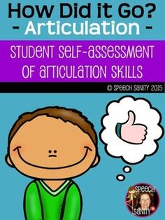 Student SelfAssessments For Articulation  Speech Fluency