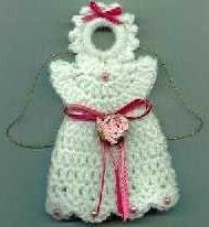 Great idea. Could use the angel pattern i already have! Crochet Angel Magnet | AllFreeChristmasCrafts.com