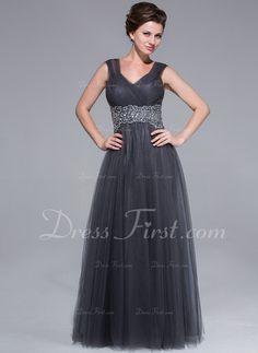 A-linjainen/Prinsessa Kultaseni Lattiaa hipova pituus Tylli Morsiamen äiti-mekko jossa Rypytys Helmikuvoinnit (008025712)