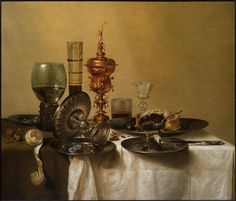 Willem Claesz Heda (c. 1597 Haarlem c. 1680)  ,A Still-Life with a Silver Tazza and a Gilt Cup