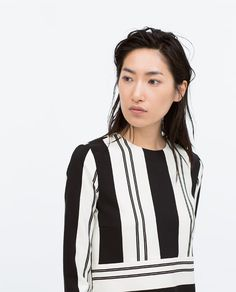 ZARA - COLLECTION SS15 - STRIPED CROP TOP WITH SIDE SLITS