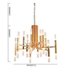 Led Chandelier Modern/Contemporary Painting Feature Gold White LED Designers Pendant Light Living Room Bedroom Study Room/Office Led G4 Bulb Included 2017 - £413.94