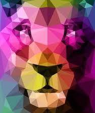 Картинки по запросу white lion polygon