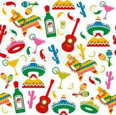 Mexican Celebration Seamless Sample Royalty Free Inventory Vector Artwork Illustration Vector Mexicanos Obtain Mexican Pinata, Mexican Fiesta Party, Fiesta Theme Party, Mexican Celebrations, Mexican Pattern, Party Frame, Mexican Designs, Mexican Folk Art, Free Vector Art