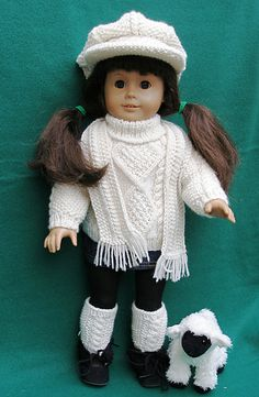 235b5b64d 9 Best Matching Child and American Girl Doll Knits images