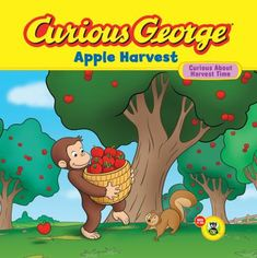 'Curious George:  Apple Harvest' by Lynne Polvino  *Young/Older Child Book  *Monkey *Apples *Harvest  *Apple Juice  *21 month old liked this book, but the plot was way too detailed for her to understand  *5/10