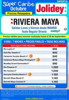 Precios Rebajados Super Caribe a Riviera Maya desde 895 €. Salidas Lunes y Viernes desde Madrid ultimo minuto - http://zocotours.com/precios-rebajados-super-caribe-a-riviera-maya-desde-895-e-salidas-lunes-y-viernes-desde-madrid-ultimo-minuto/
