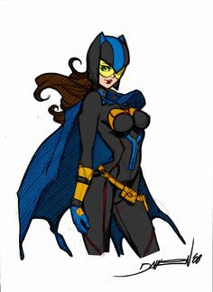 Ame Comi Batgirl by Daikon by Kenkira on DeviantArt Batwoman, Batgirl, Black Canary, American Comics, A Cartoon, Birds Of Prey, Gotham City, Amai, Daughters