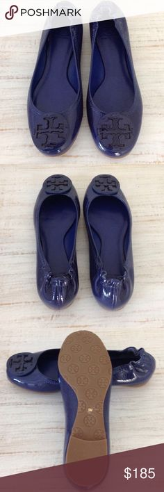 Tory Burch Reva - Polished Patent Leather Tory Burch Reva - Polished Patent Leather. Color: Persian Blue, Brand New in Box Size: 9 Tory Burch Shoes Flats & Loafers